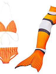 cheap -Mermaid Tail Swimwear Men's / Women's Halloween / Children's Day Festival / Holiday Halloween Costumes Orange Solid Colored / Mermaid Mermaid and Trumpet Gown Slip
