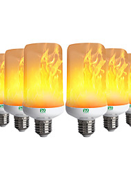 cheap -YWXLIGHT® 6pcs 6W 300-400lm E26 / E27 LED Corn Lights 99 LED Beads SMD 3528 Flame Flickering Decorative Warm White 85-265V