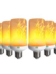 preiswerte -YWXLIGHT® 6pcs 6W 300-400lm E26 / E27 LED Mais-Birnen 99 LED-Perlen SMD 3528 Flamme flackert Dekorativ Warmes Weiß 85-265V