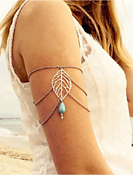 cheap -Leaf Turquoise Arm Chain - Women's Silver Vintage European Leaf Drop Body Jewelry For Bikini Going out
