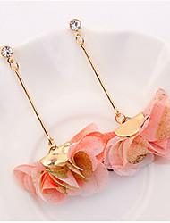 preiswerte -Damen Kronleuchter Tropfen-Ohrringe - Blume Europäisch, Modisch Purpur / Gelb / Rosa Für Normal / Alltag