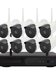 abordables -yanse 8ch plug and play sans fil nvr kits ir vision nocturne ip caméra système de sécurité