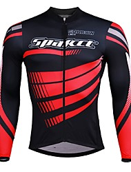 cheap -SPAKCT Men's Long Sleeve Cycling Jersey - Black / Red / Black / Blue / Black / Yellow Bike Jersey, Quick Dry / Expert / YKK Zipper / Italy Imported Ink / Breathable Armpits