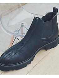 Pánské Obuv Syntetické mikrovlákno PU Zima Podzim Obuv military styl Pohodlné Boty Kotníčkové pro Ležérní Černá