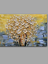 cheap -Hand-Painted Still Life Floral/Botanical Horizontal, Comtemporary Modern Canvas Oil Painting Home Decoration One Panel