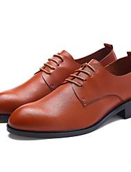 povoljno -Muškarci Cipele PU Proljeće Jesen Udobne cipele Oksfordice za Kauzalni Crn Braon