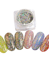cheap -1 Glitter Powder Mirror Effect Nail Glitter Nail Art Design