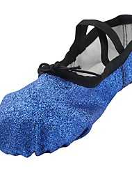 cheap -Ballet Shoes Sparkling Glitter Flat Flat Heel Customizable Dance Shoes Blue / Practice