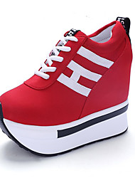 cheap -Women's Sneakers Spring / Summer / Fall Comfort Leatherette Outdoor / Athletic Wedge Heel Lace-up  Fitness & Cross