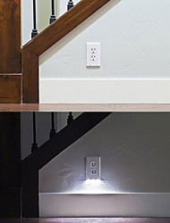 cheap -2pcs Plug Socket LED Night Light White Light Control Safety