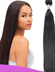 cheap -6 Bundles Indian Hair Straight Virgin Human Hair Natural Color Hair Weaves / Hair Bulk 8-28 inch Natural Color Human Hair Weaves Fashionable Design / Soft / Hot Sale Human Hair Extensions Women's
