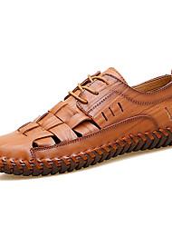 Недорогие -Муж. Искусственная кожа Весна / Лето Удобная обувь Мокасины и Свитер Контрастных цветов Черный / Желтый / Коричневый