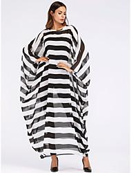 cheap -Women's Basic Boho Shift Swing Dress - Striped