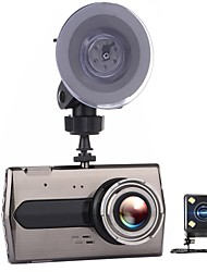 Недорогие -t667 двойной объектив автомобиль dvr авто камера автомобили dvrs тире камера черный ящик видеокамера fhd 1080p рекордер видео регистратор каркас