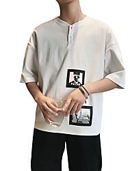 povoljno -Majica s rukavima Muškarci - Kinezerije Ulični šik Dnevno Jednobojni Print