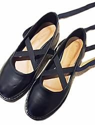 povoljno -Žene Cipele Sintetika, mikrofibra, PU Proljeće Jesen Balerinke Ravne cipele Ravna potpetica za Kauzalni Crn