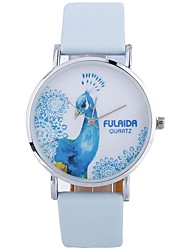 Недорогие -Жен. Модные часы Китайский Крупный циферблат PU Группа Мода / минималист Черный / Белый / Синий / Один год