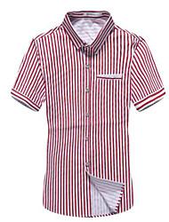billige -Herre - Stribet Basale Skjorte