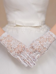 cheap -Mesh Wrist Length Glove Pattern With Embroidery