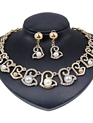 cheap -Women's Jewelry Set - Imitation Pearl, Gold Plated Flower Fashion Include Bridal Jewelry Sets Gold For Wedding / Daily