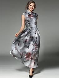 cheap -SHIHUATANG Women's Vintage Street chic Swing Dress - Floral, Print