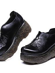povoljno -Žene Cipele Koža Proljeće Jesen Čizmice Čizme Creepersice Čizme gležnjače / do gležnja za Kauzalni Crn Crvena