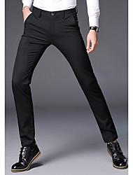 cheap -Men's Business Suits Pants - Solid Colored