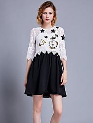 povoljno -Žene Majica - Cvjetni print Suknja