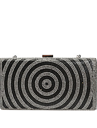 cheap -Women's Bags PU Leather Evening Bag Crystals Gold / Black / Silver