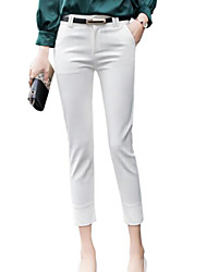 cheap -Women's Basic Suits Pants - Solid Colored