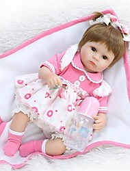 cheap -NPKCOLLECTION Reborn Doll Baby Girl 18 inch Silicone - lifelike, Hand Applied Eyelashes, Tipped and Sealed Nails Kid's Unisex Gift / Natural Skin Tone / Floppy Head