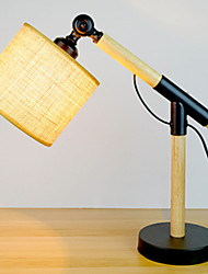 cheap -Artistic Adjustable Table Lamp For Wood / Bamboo 220-240V Black