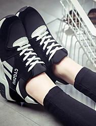 povoljno -Žene Cipele Flis Proljeće Jesen Udobne cipele Sneakers Ravna potpetica Okrugli Toe za Kauzalni Crn Crvena Crvena