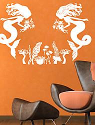 baratos -Decalque Autocolantes de Parede Decorativos - Adesivos de parede de pessoas Fadas Reposicionável Removível