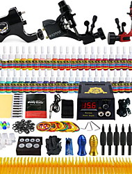 billige -Solong Tattoo Tattoo Machine Professionel Tattoo Kit - 3 pcs Tattoo Maskiner LCD strømforsyning No case 3 x legering tatovering maskine til foring og skygge