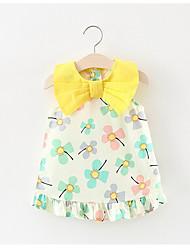 preiswerte -Baby Mädchen Kleid, Baumwolle Polyester ärmellos hellbraun rot pink 80 100 90