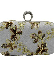 cheap -Women's Bags PU Leather Evening Bag Embroidery Embroidery Silver