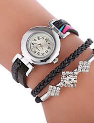 cheap -Women's Fashion Watch Chinese Casual Watch PU Band Bohemian / Fashion Black / White / Blue