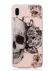 cheap -Case For Huawei P20 lite P20 Pro IMD Transparent Pattern Back Cover Skull Soft TPU for Huawei P20 lite Huawei P20 Pro Huawei P20 P10 Plus