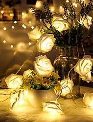 preiswerte -1.5 Leuchtgirlanden 10 LEDs Warmes Weiß Dekorativ AA-Batterien angetrieben 1pc