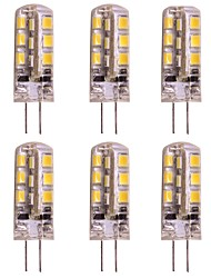 economico -WeiXuan 6pcs 2W 160lm G4 Luci LED Bi-pin T 24 Perline LED SMD 2835 Bianco caldo Luce fredda 12V