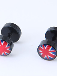 cheap -Women's Stud Earrings - Fashion European Black The Union Jack Earrings For Causal Daily