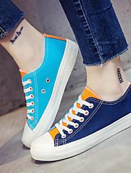 povoljno -Žene Cipele Platno Proljeće Jesen Udobne cipele Sneakers Niska potpetica za Kauzalni Obala žuta Plava
