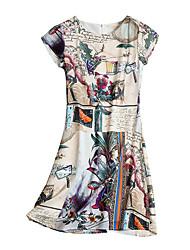 abordables -Mujer Vaina Vestido Geométrico Sobre la rodilla Halter