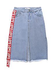 cheap -Women's Street chic Pencil Skirts - Letter