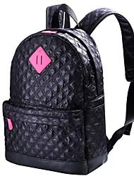 preiswerte -Damen Taschen Leder Rucksack Rüschen Rote / Purpur