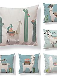 cheap -6 pcs Textile Cotton / Linen Pillow case, Geometric Simple Printing Art Deco / Retro Lovely