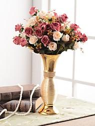 Недорогие -Искусственные Цветы 0 Филиал Роскошь / европейский Ваза Букеты на стол / Одноместный Ваза