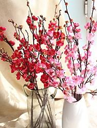 baratos -Flores artificiais 1 Estilo Moderno Ameixa Flor de Mesa / Não Incluído
