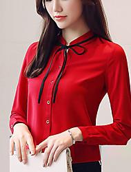 preiswerte -Damen Solide - Boho Hemd Schleife